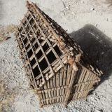 Model made in Oman by a local builder showing palm frond stems (barast) andi date palm frond stem construction.